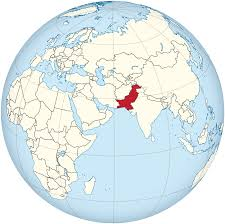 Pakistan On The Map File Pakistan On The Globe Claimed Hatched Afro Eurasia