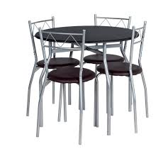 Buy HOME Oslo Round Dining Table   Chairs Black At Argoscouk - Black dining table for 4