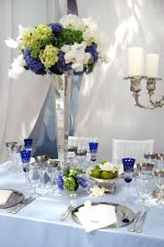 Blue Wedding Centerpieces by Royal Blue Chartreuse And White Wedding Decor U0026 Centerpieces