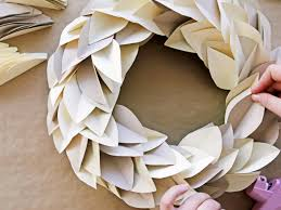 leaf shaped writing paper how to make a paper leaf wreath hgtv crafternoon hgtv contemporary paper leaf wreath project