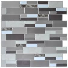 Wall Backsplash Peel N Stick Tile Backsplash Bathroom Wall Tiles 6 Sheet Covers