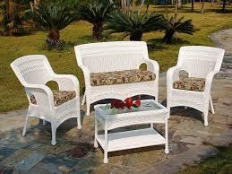 Wicker Patio Table Set White Wicker Patio Furniture 3 Alternatives
