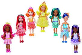 amazon barbie dreamtopia rainbow cove 7 doll gift toys