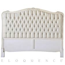 eloquence sophia queen headboard in weathered white kathy kuo home