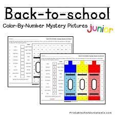 place value mystery number back to school place value color by number printables worksheets