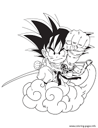 cartoon dragon ball goku coloring coloring pages printable