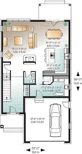 house plan w3859 detail from drummondhouseplans com 1st level 2 storey narrow lot home design master suite 4 bedrooms double