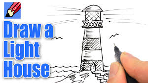 how to draw a lighthouse real easy youtube