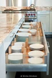 kitchen drawer ideas best 25 plate storage ideas on kitchens