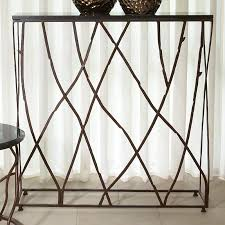 Iron Console Table Iron Branch Slim Console Table The Designer Insider