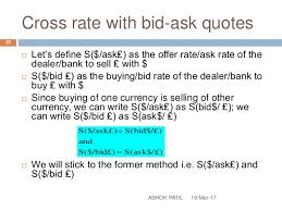 bid rate exchange rate basics