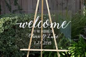 wedding plaques personalized clear wedding welcome sign wedding signs personalized sign