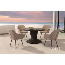 48 In Round Dining Table Zuo Modern 703831 Noe 48