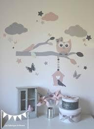deco chambre bebe fille papillon stickers décoration chambre enfant fille bébé branche cage à oiseau