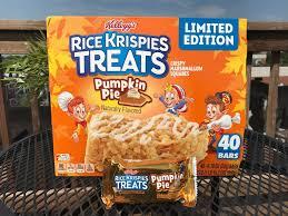 Rice Crispy Treat Pumpkins Review Kellogg U0027s Pumpkin Pie Rice Krispies Treats Junk Banter