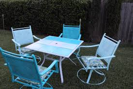 How To Paint Metal Patio Furniture - how to paint outdoor furniture u2013 the bajan texan