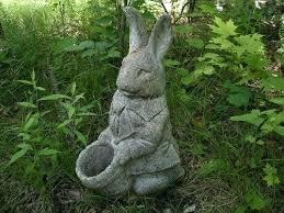 vintage garden statues exhort me