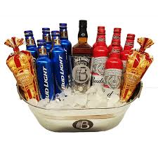 liquor gift baskets basket gift the boilermaker and whiskey brobasket
