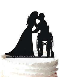 cheap wedding cake stands wedding cake topper the groom in wheelchair kissing bride special
