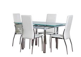 Black Glass Dining Table And 4 Chairs Glass Dining Table 4 Gallery Dining Intended For Glass Dining