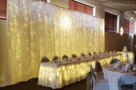 wedding backdrop fairy lights backdrops glow event decor