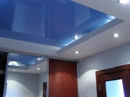 interior design engaging blue and white gloss color false ceiling