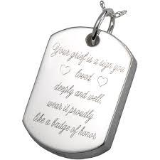 crematory jewelry dog tag pet cremation jewerly pendant