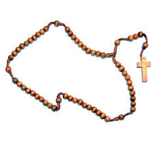 wooden rosary rosary wood brown string issnr1 7 50 holyland