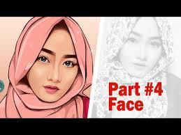 tutorial cara vector photoshop vector vexel portrait tutorial part 4 face youtube
