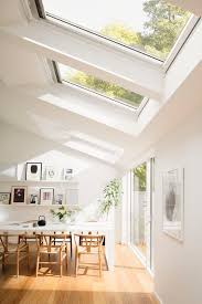 these white painted velux roof windows really add some light to