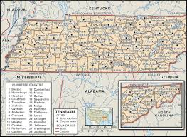 Washington State County Map by State And County Maps Of Tennessee