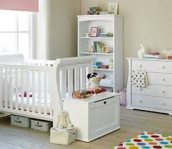 grand white painted interior design for baby boy room ideas with