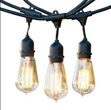 outdoor string light chandelier 48 ft weatherproof outdoor string lights 48 feet long with 15