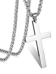 mens cross chain necklace images Steel stainless steel cross pendant chain necklace for men women jpg
