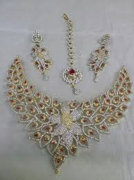 gold set in pakistan jewelry set jd004 send gifts to pakistan