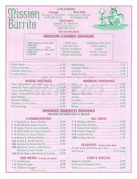 Simi Valley Map Mission Burrito Menu Simi Valley Dineries