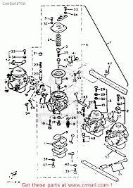 yamaha xj750 maxim 1982 c usa carburetor schematic partsfiche