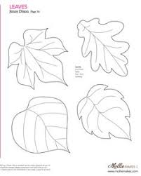 diy felt or paper leaves and acorns free pattern template