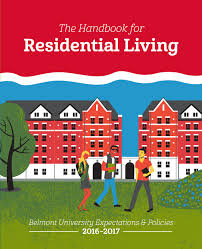 the belmont university handbook for residential living by belmont