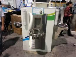 contemporary modern radii water cooler with drinking fountain