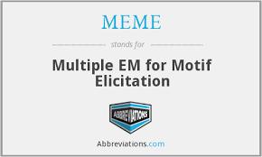 Meme Motif - multiple em for motif elicitation