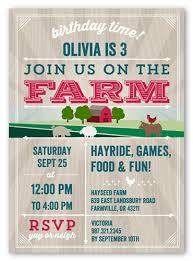 farm friends 5x7 custom boy birthday invitations shutterfly