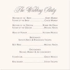 Wedding Program Outline Template Sample Wedding Program Wedding Party Wedding Reception Program