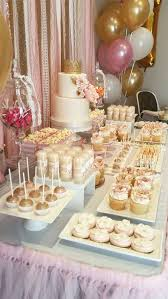 rose gold candy table pink and gold birthday party ideas gold birthday birthday party
