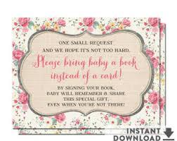 Books Instead Of Cards For Baby Shower Poem Baby Shower Insert