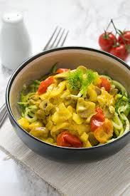 courgette cuisine vegan spiralized courgette pasta with turmeric sauce