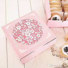 cookie gift boxes pink floral printed cookie gift box macaron packaging caixa