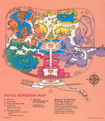 Fort Wilderness Map Magic Kingdom Guide Book 1986 Photo 1 Of 12