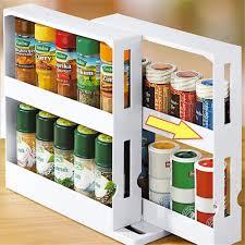 kitchen food storage cupboard multi function rotating spice rack organizer kitchen cabinet cupboard organizer swivel rack storage shelf for kitchen food storage walmart