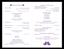 traditional wedding program template wedding reception program emcee sle script photos diy wedding